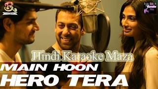 Main Hoon Hero Tera Hindi Karaoke Instrumental With Hindi Lyrics By Dj Raj & Brothers Hindi Karaoke