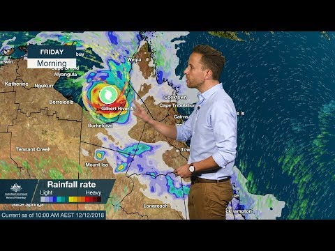 WEATHER UPDATE: tropical cyclone Owen in the Gulf of Carpentaria, 12 Dec. 2018