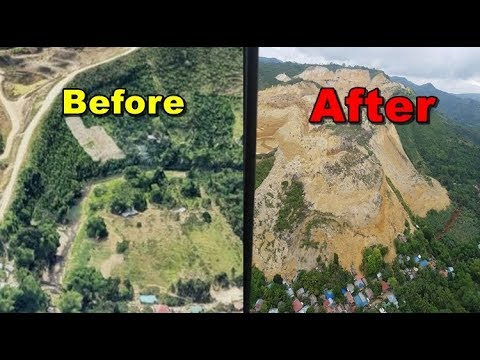 Cebu landslide, before and after, Philippines  mudslide , Naga City landslide ,