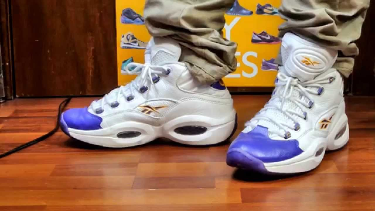 21443b7dc28  TBT Packer Shoes x Reebok Question - Kobe PE On Feet - YouTube