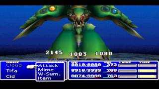 Final fantasy 7 bonus video BEATING EMERALD WEAPON and getting another set of master materia