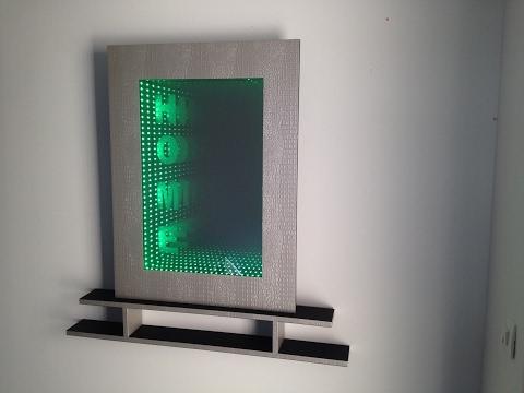 cadre miroir infini led  design home