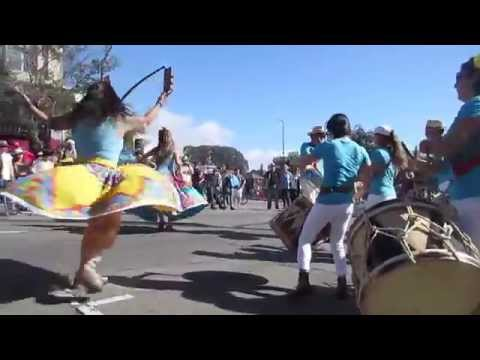 Drums/Dancing by Maracatu Pacifico (live) @ Sunday Streets Berkeley 2015.10.18