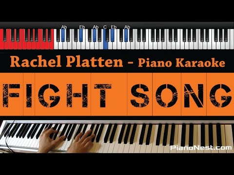 Rachel Platten - Fight Song - HIGHER Key (Piano Karaoke / Sing Along / Cover with Lyrics)