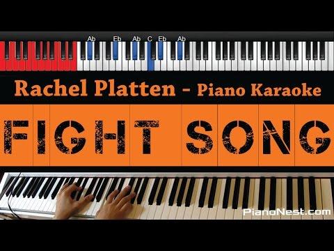 Rachel Platten - Fight Song - HIGHER Key (Piano Karaoke / Sing Along / Cover with Lyrics)