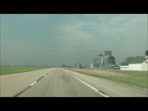 North Dakota - Interstate 29 North - Mile Marker 200 to 217