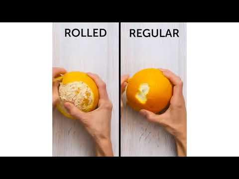 Rolled vs Regular Orange