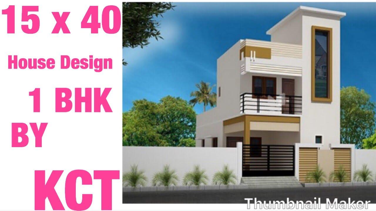 15 X 40 5m X 12m Modern House Design 1bhk Vastu Shastra 65 Gaj Ka Ghar Ka Naksha