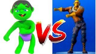 SUPERHERO BABIES FORTNITE DANCE ❤ Spiderman, Hulk & Frozen Play Doh Cartoons For Kids
