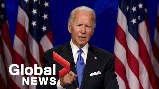 Joe Biden formally accepts Democratic presidential nomination at 2020 DNC | FULL SPEECH