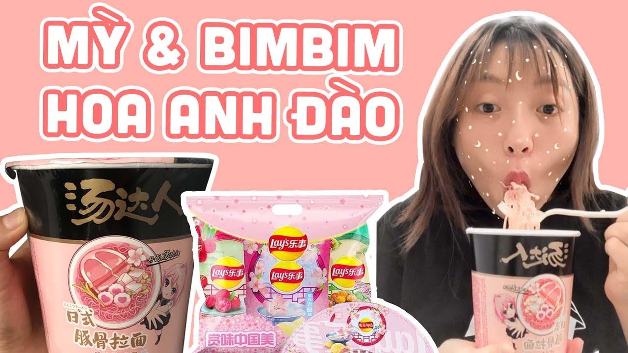 Lần Đầu Ăn Thử Mỳ & BimBim Hoa Anh Đào | Pít Ham Ăn | #Shorts