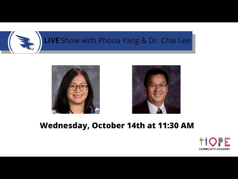Join us live with Dr. Lee, Principal of HOPE Community Academy!