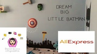 TOUR HABITACIÓN DECORACION MARVEL ALIEXPRESS