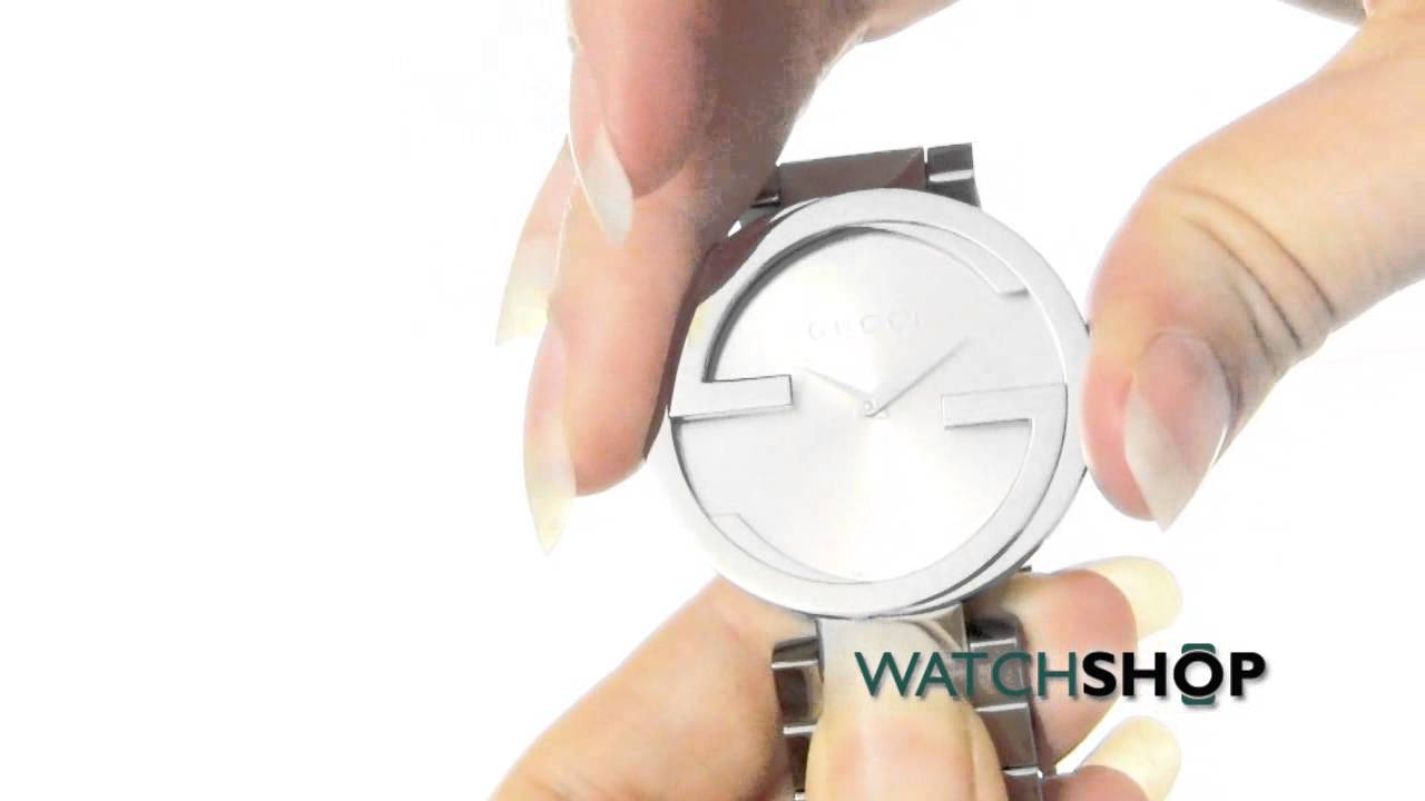 5b07d1845cd Gucci Ladies  Interlocking G Watch (YA133308) - YouTube