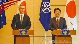 「北朝鮮へ圧力強化で一致」日本・NATO共同記者発表 ノーカット - 2017/10/31