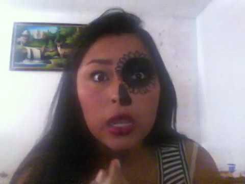 Maquillaje De Catrina Mitad De Cara Youtube