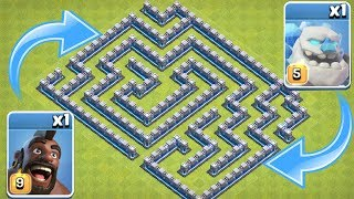 "MAZE BASE NEW HOG & GOLEM SKIN! ""Clash Of Clans"" TROLL ATTACK"