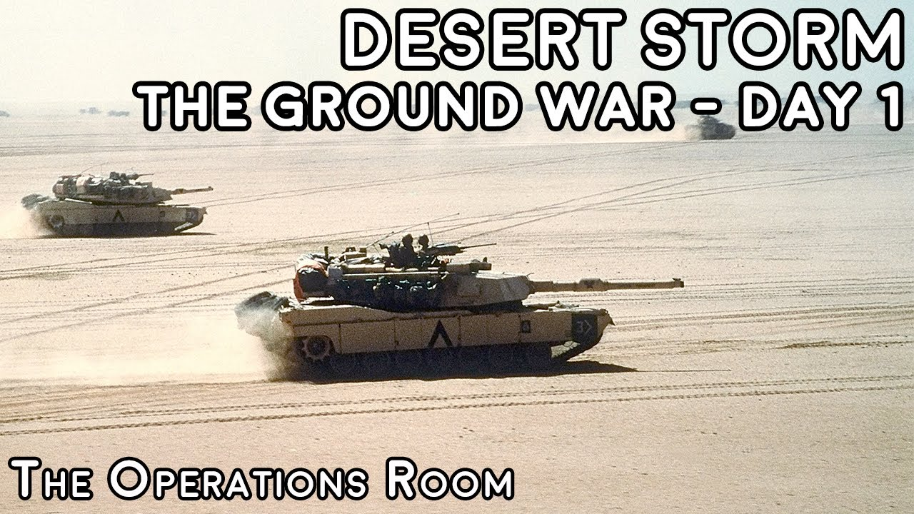Desert Storm - The Ground War, Day 1 - Crush the Saddam Line - Time-Lapse
