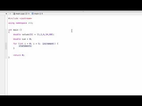 Find the sum or average of array values (C++ programming tutorial