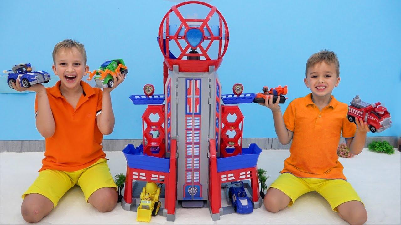 Vlad e Niki PAW patrulham a história dos brinquedos do filme