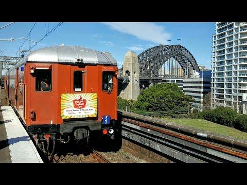 Sydney Trains Vlog 1333: Red Set F1 - Sydney Harbour Bridge & Lavender Bay