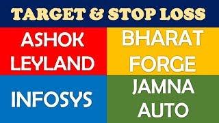 Ashok Leyland Bharat Forge Infosys Jamna Auto target stop loss | multibagger shares for 2019 India