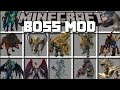 Minecraft BOSS MOD / FIGHT HUGE MOBS AND SURVIVE THE BATTLE AGAINST MONSTERS!! Minecraft
