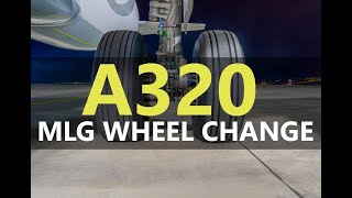 Airbus A320 Main Landing Gear Wheel Removal / Installation
