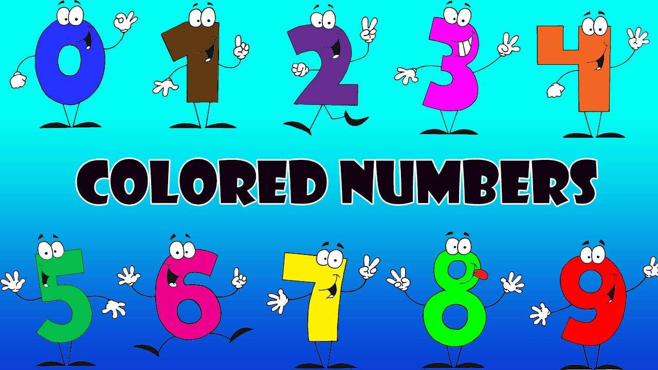 The Numbers Coloring - Colored Numbers For Children Kids Learn ...