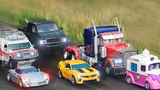 Transformers Movie 2 ROTF Autobot Buster Optimus Prime Bumblebee Truck 6 Vehicles Robot Car Toys