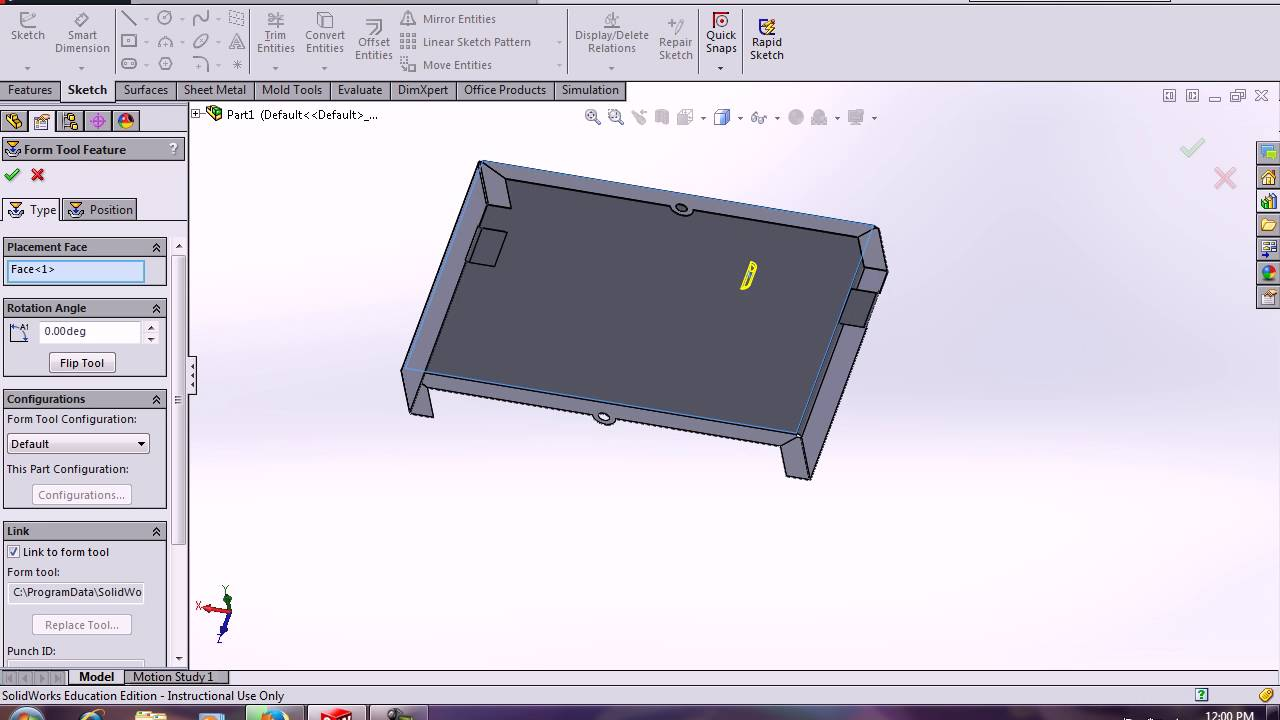 Solidworks Sheetmetal Stereo Cover