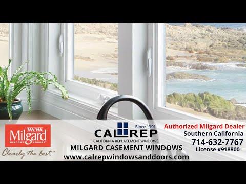 Milgard Casement Window - California Replacement Windows 714-632-7767 Orange County
