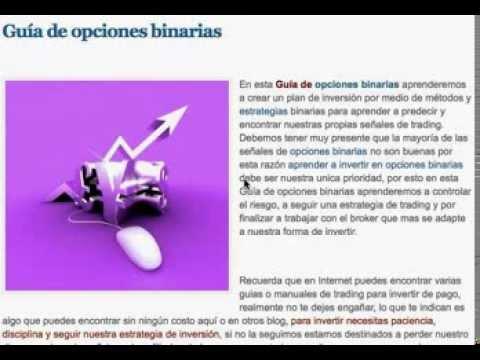 Guía de opciones binarias en español
