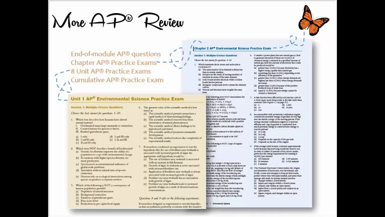 ap environmental science multiple choice questions