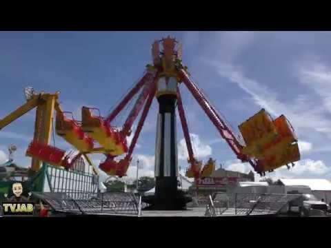 Florida State Fair 2019 - Down Draft Ride - 4k Video