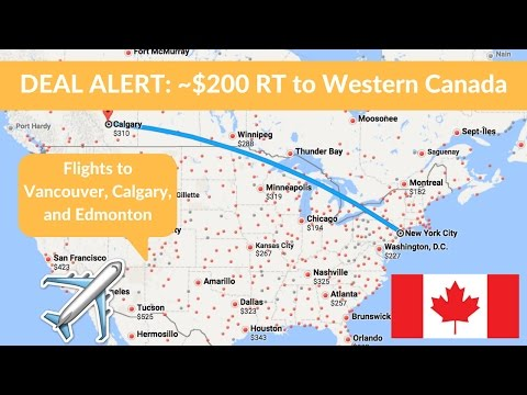 Travel Deal: US to western Canada + travel ideas