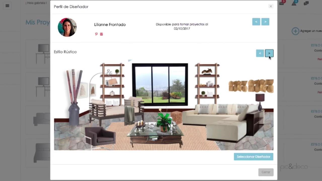 Paso 1 - Personaliza tu proyecto Pic & Deco