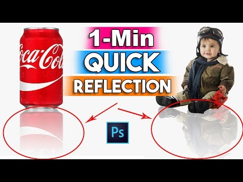 How to Create a Reflection into 1 min Best way for Beginners in Photoshop CC/CS6
