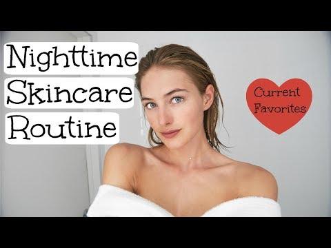 Nighttime Skincare Routine | Model Skincare | Glowy Healthy Skin | Sanne Vloet