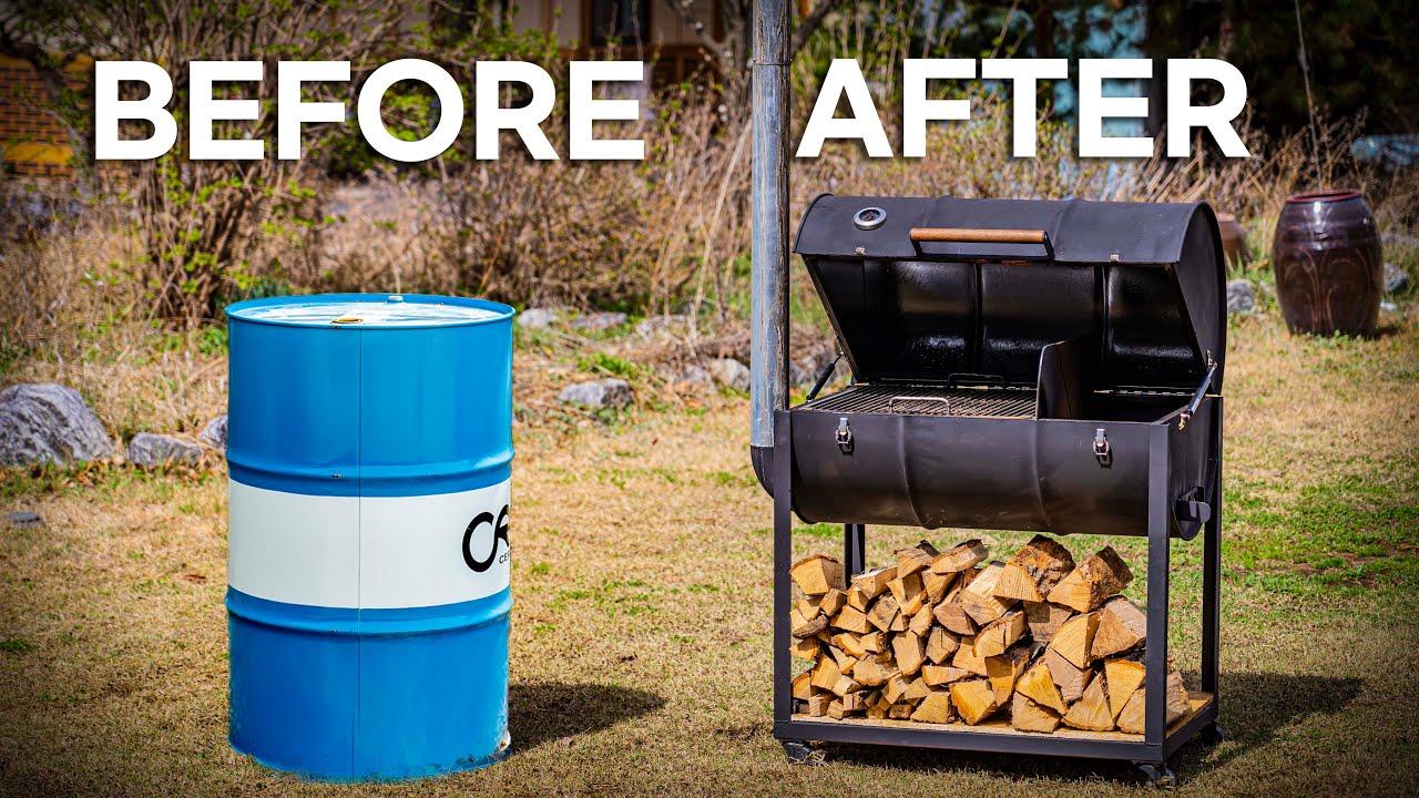 드럼통으로 바베큐 그릴 만들어서 소고기 10kg 통째로 구워보자!