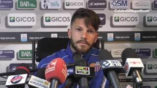 Catanzaro-Catania 2-1:  Russotto in Sala stampa