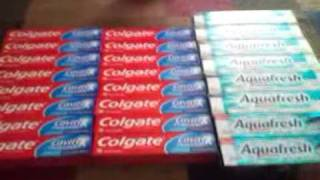 24 toothpaste, they paid me $8 to take it home