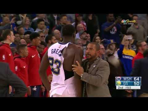 Draymond Green and Bradley Beal Fight - Golden State Warriors vs. Washington Wizards - 27/10/2017