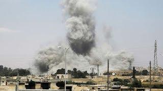 بالفيديو.. التحالف يسقط طائرة سورية فوق الرقة