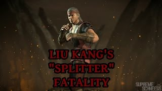 mortal kombat x liu kang s splitter fatality performed on all characters