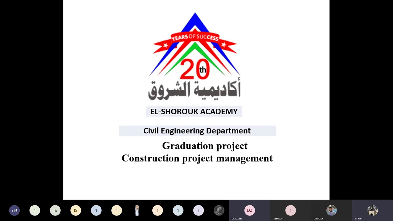 Project Management | Graduation project preparation session - Civil 2021