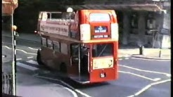 London Buses 1986-A Ride on Open-Top Routemaster Bus RM 752 Battersea Garage to Hyde Park Corner