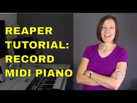 Reaper Tutorial: Record MIDI Piano Tracks And Convert To An Audio File Using FREE Piano VSTi Plugin