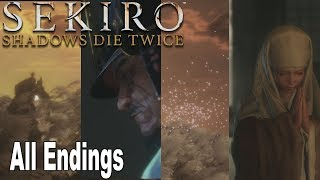 Sekiro: Shadows Die Twice - All Endings (Good Ending, Alt Good Ending, Bad Ending, True Ending) thumbnail