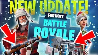 FORTNITE WINTER UPDATE CHRISTMAS PATCH NOTES (SNOW WEAPONS AND BATTLE PASS UPDATE)